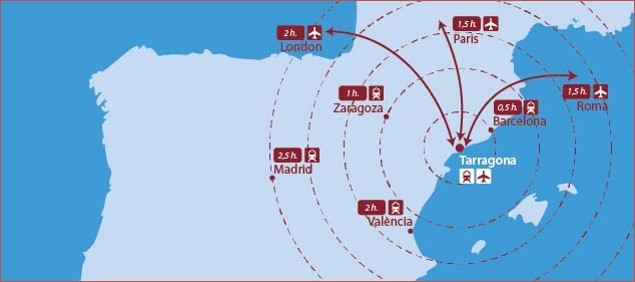Map Of Spain Reus.How To Get To Tarragona Spanish Summer School 2017